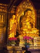 Golden Buddha Statue -Large Wild Goose Pagoda