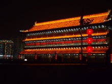 Xian at night large building